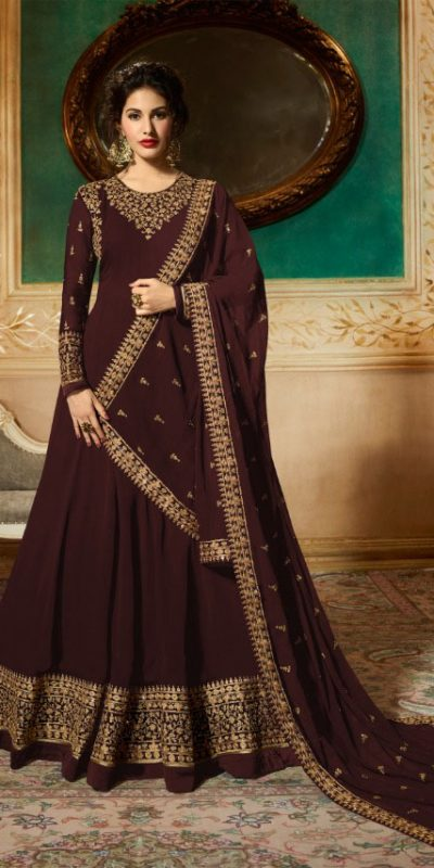 marvelous-brown-georgette-designer-embroidered-anarkali-suit