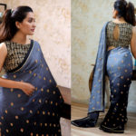 attractive-gray-black-pading-georgette-embroidery-work-saree