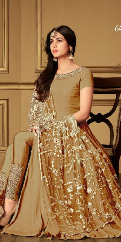 apricot-color-heavy-georgette-stone-work-suit-with-heavy-dupatta