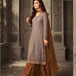 grey-tawny-faux-georgette-embroidery-stone-work-sharara-suit