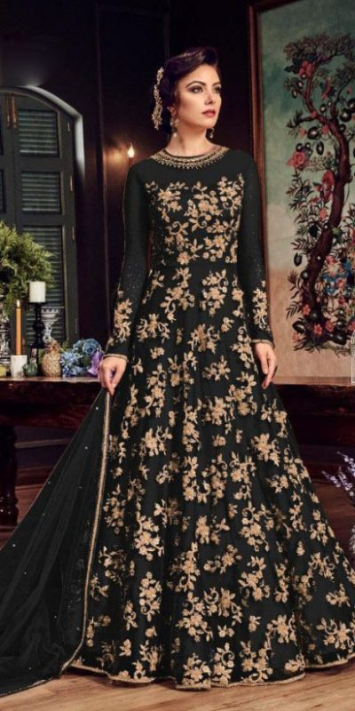 impeccable-black-color-heavy-net-with-embroidery-stone-work-suit