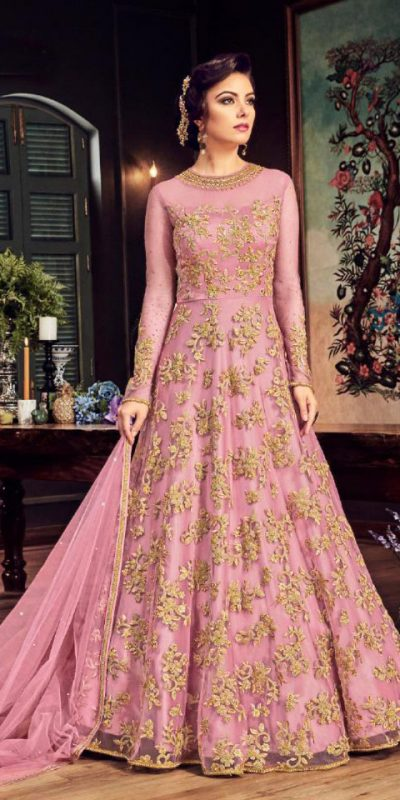impeccable-light-pink-color-heavy-net-with-embroidery-stone-work-suit