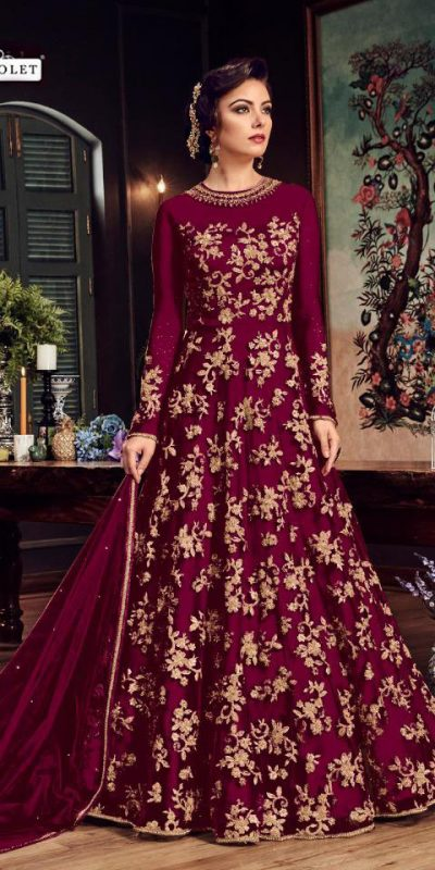 impeccable-maroon-color-heavy-net-with-embroidery-stone-work-suit