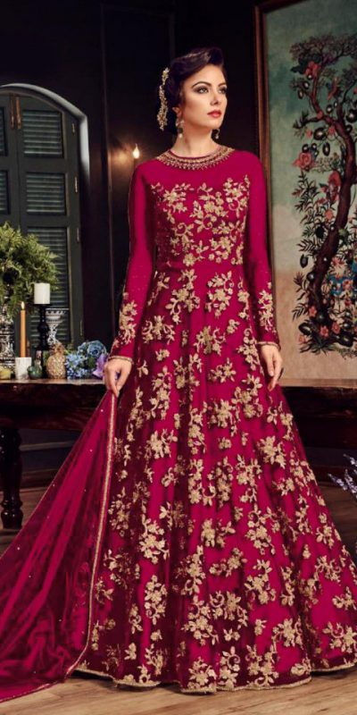 impeccable-pink-color-heavy-net-with-embroidery-stone-work-suit