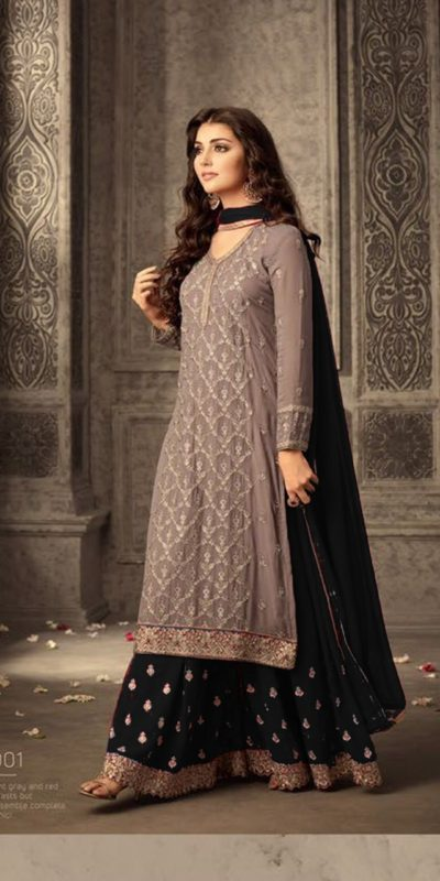 mesmerizing-black-faux-georgette-embroidery-stone-work-sharara-suit