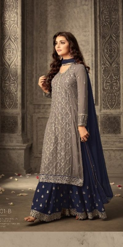 mesmerizing-grey-blue-faux-georgette-embroidery-stone-work-sharara-suit