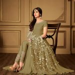 olive-green-color-heavy-georgette-stone-work-suit-with-heavy-dupatta