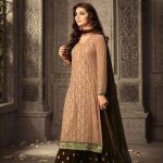 peach-brown-faux-georgette-embroidery-stone-work-sharara-suit