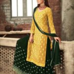 adorable-yellow-green-color-party-wear-georgette-sharara-suit