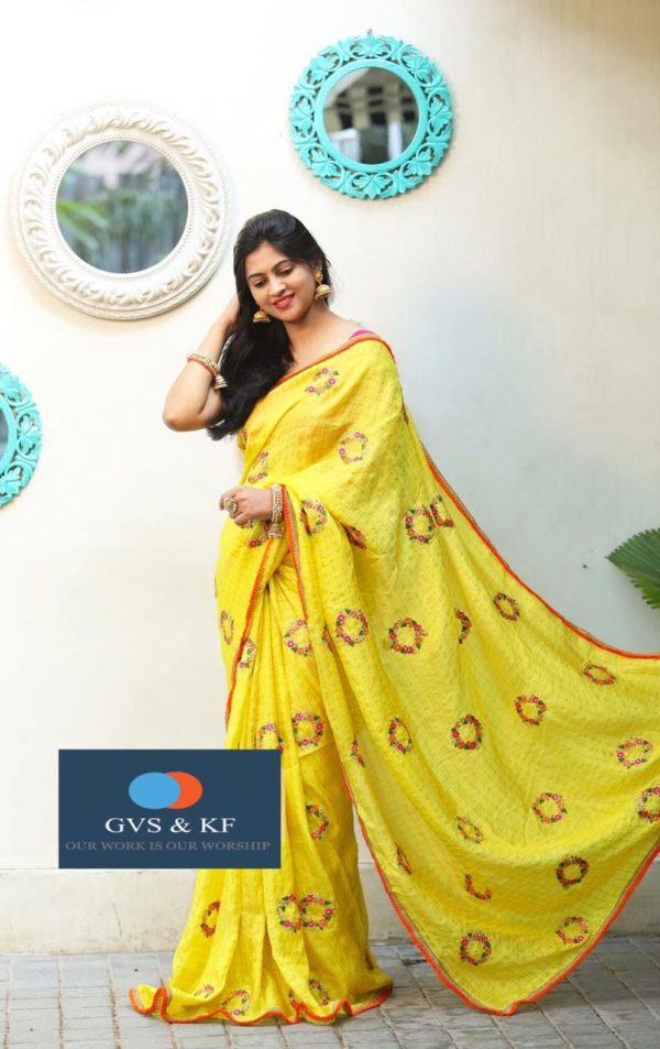 glamorous-yellow-color-chex-modal-silk-festival-wear-embroidered-saree (2)