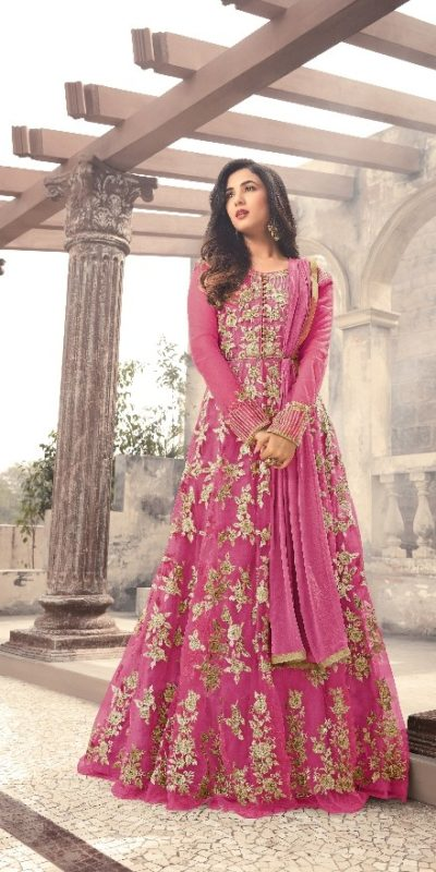 magical-dark-pink-color-heavy-net-embroidered-and-stone-work-anarkali-suit