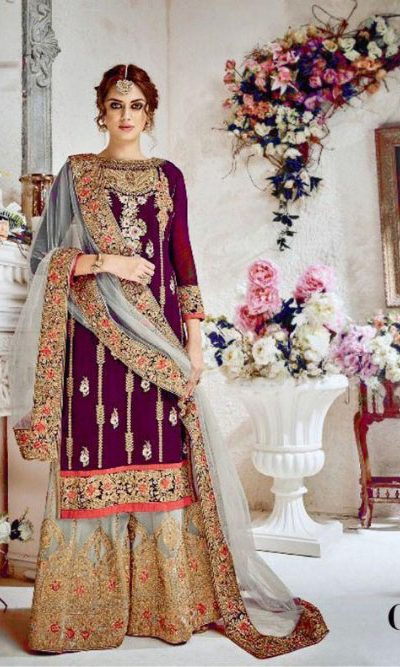 stunning-purple-heavy-georgette-embroidered-stone-work-sharara-suit