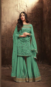 sweetest-green-color-heavy-net-embroidered-stone-work-plazo-suit