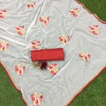 white-color-jacquard-cotton-chex-embroidered-with-lace-work-saree