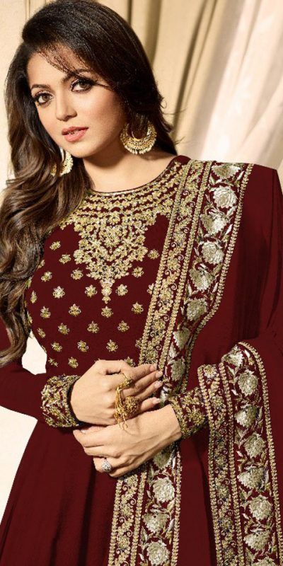 wonderful-red-color-faux-georgette-codding-embroidery-work-suit