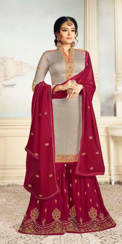 charismatic-grey-color-satin-georgette-with-embroidered-work-plazo-suit