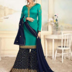 charismatic-sea-green-color-satin-georgette-with-embroidered-work-plazo-suit