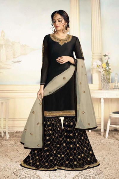charismatic-black-color-satin-georgette-with-embroidered-work-plazo-suit