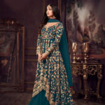 luminous-peacock-blue-color-heavy-net-embroidered-stone-work-sharara-suit