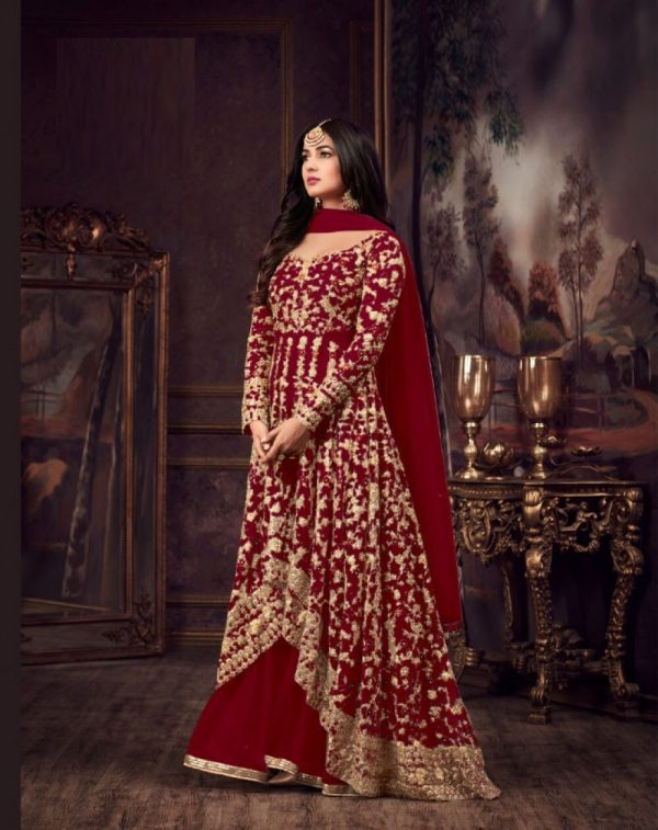 luminous-red-color-heavy-net-embroidered-stone-work-sharara-suit