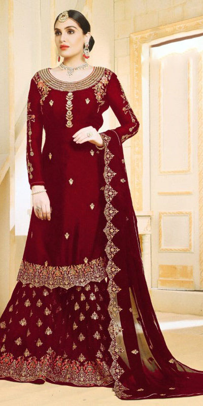 progressive-red-color-georgette-embroidered-plazo-suit-from-ghunghat
