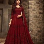 maisha-red-color-womens-wear-heavy-net-embroidery-anarkali