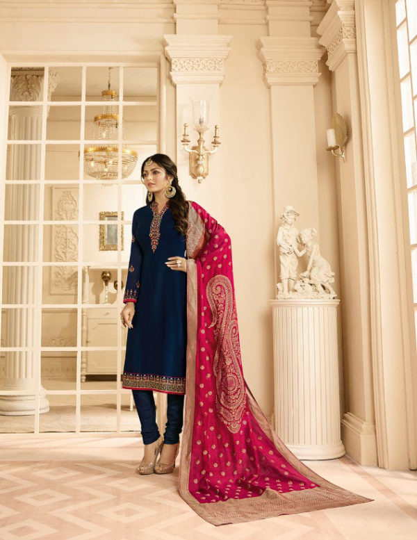 attractive-blue-color-satin-with-embroidery-and-stone-work-salwar-suit