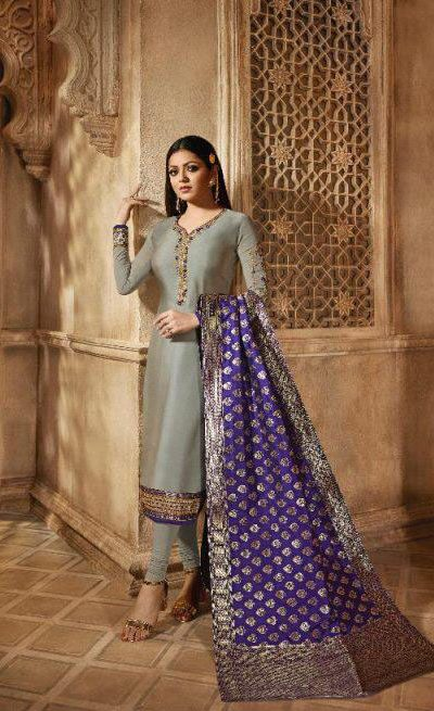 blooming-grey-color-heavy-georgette-salwar-suit-with-banaras-dupatta