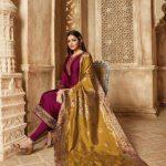 blooming-maroon-color-heavy-georgette-salwar-suit-with-banaras-dupatta