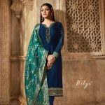 blooming-royal-blue-color-heavy-georgette-salwar-suit-with-banaras-dupatta