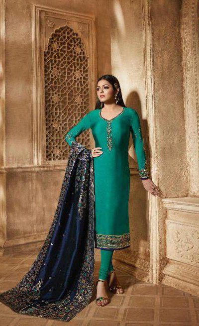 blooming-sea-green-color-heavy-georgette-salwar-suit-with-banaras-dupatta