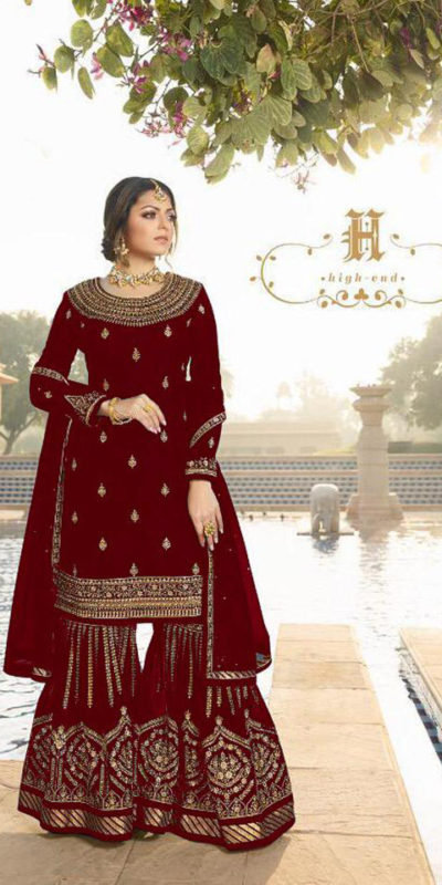 dazzling-red-color-satin-georgette-multi-diamond-work-plazo-suit