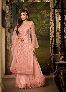 light-pink-color-heavy-net-with-embroidery-stone-work-wedding-suit