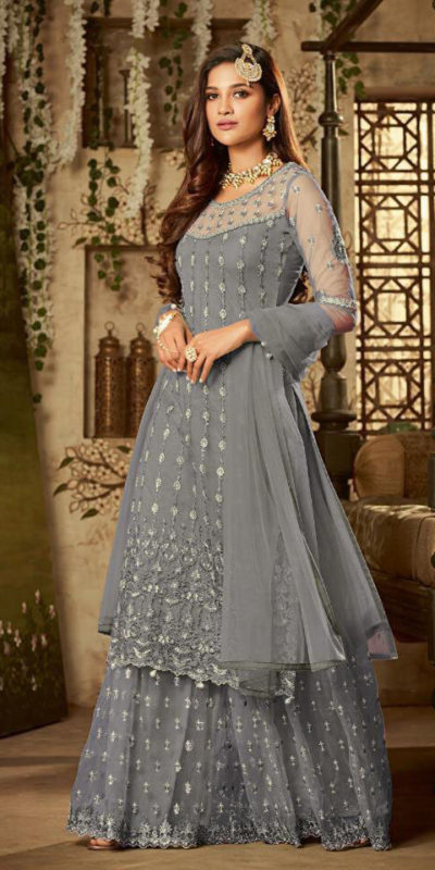 mesmerizing-grey-color-heavy-net-embroidered-stone-work-sharara-suit