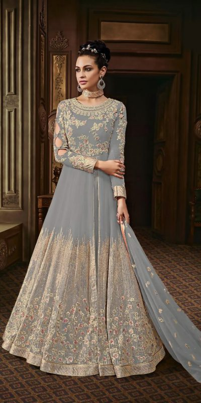 harmonious-grey-color-heavy-georgette-with-stone-work-anarkali-suit