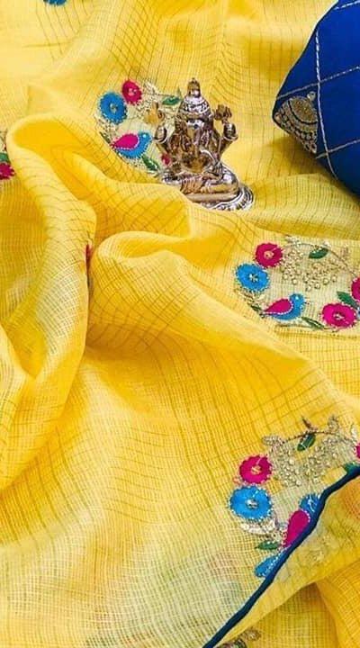 harmonious-yellow-color-saree-with-bangalore-silk-blouse