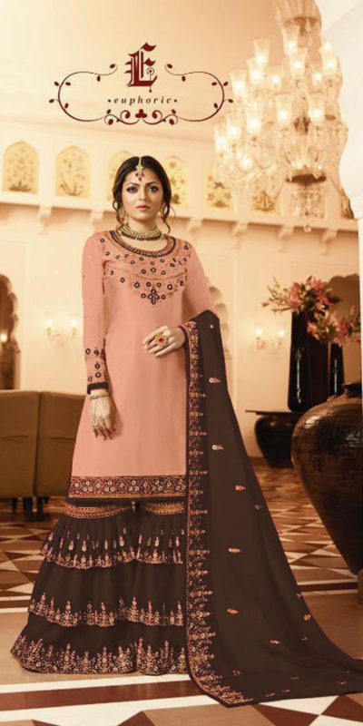pleasing-brown-color-satin-georgette-multi-diamond-work-plazo-suit