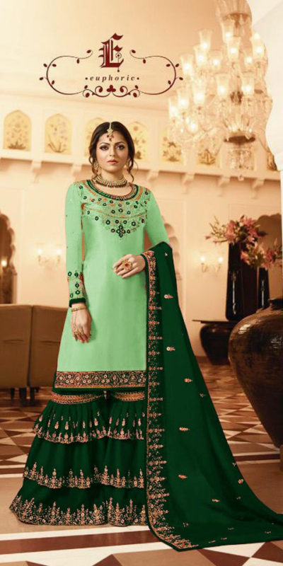 pleasing-green-color-satin-georgette-multi-diamond-work-plazo-suit