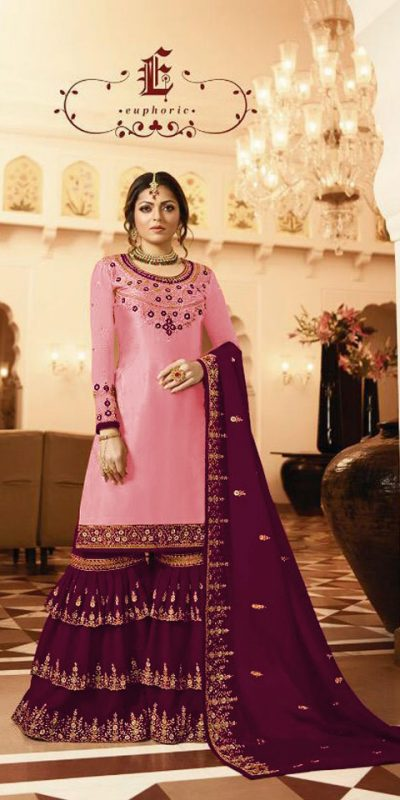 pleasing-purple-color-satin-georgette-multi-diamond-work-plazo-suit
