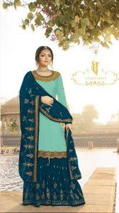 pleasing-sky-blue-color-satin-georgette-multi-diamond-work-plazo-suit