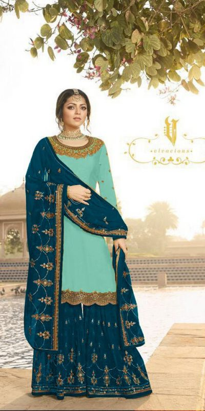 pleasing-sky-blue-color-satin-georgette-multi-diamond-work-plazo-suit
