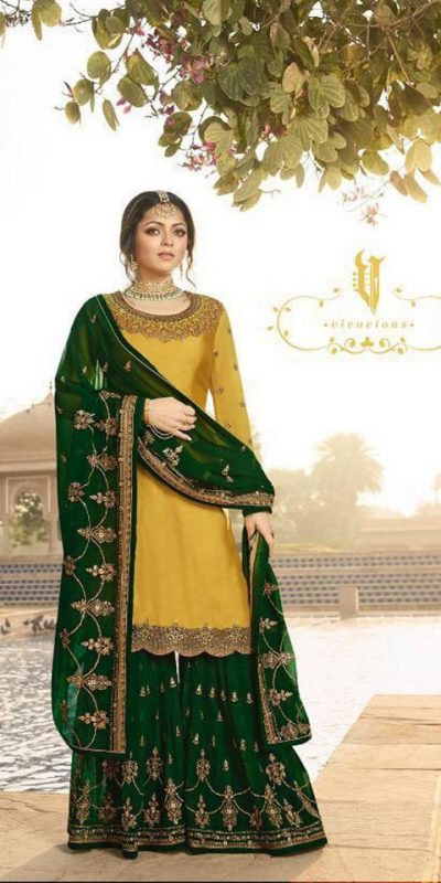 pleasing-yellow-color-satin-georgette-multi-diamond-work-plazo-suit