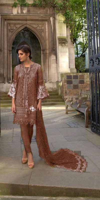 vibrant-brown-color-heavy-net-embroidered-stone-work-plazo-sui