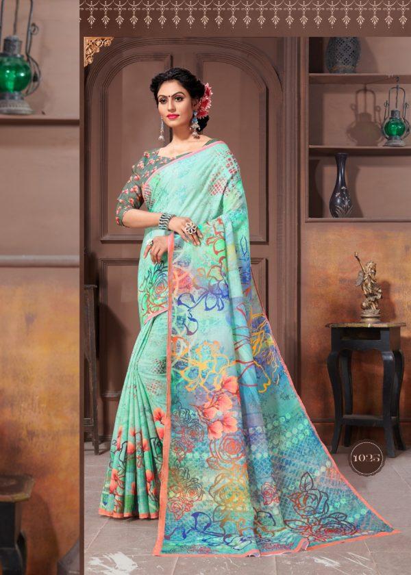 special-multi-color-linen-designer-digital-print-saree