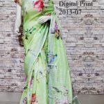 Unforgettable Multi Color Linen Designer Digital Print Saree 2