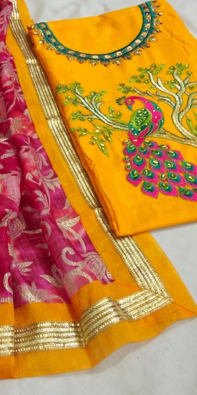alluring-yellow-color-heavy-modals-silk-festival-wear-dress-material