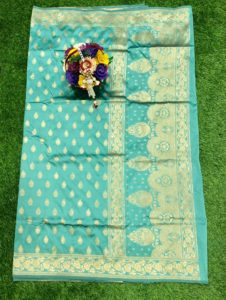 aqua-banarasi-silk-weaving-jacquard-saree-with-heavy-rich-zari-pallu