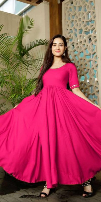classic-floral-pink-color-american-creep-silk-gown