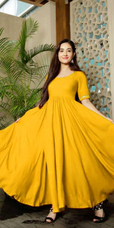 classic-floral-yellow-color-american-creep-silk-gown