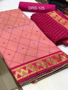 fragile-pink-color-heavy-modals-silk-festival-wear-dress-material